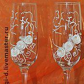 """Свадебный салон ручной работы. Ярмарка Мастеров - ручная работа свадебные бокалы """" Поцелуй"""". Handmade."""