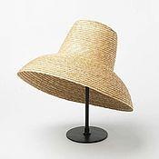Аксессуары handmade. Livemaster - original item Straw hat dome. Handmade.