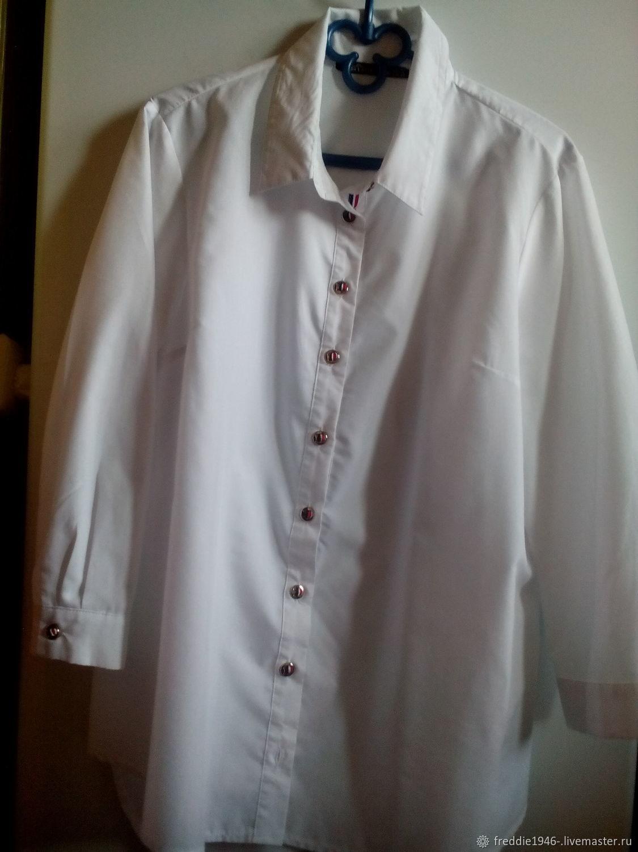 cc6ea5980ad Одежда. Ярмарка Мастеров - ручная работа. Купить Винтаж  Стильная белая  рубашка.