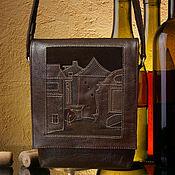 """Сумки и аксессуары ручной работы. Ярмарка Мастеров - ручная работа Кожаная сумка """"Старый город"""". Handmade."""