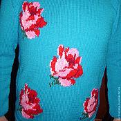 Одежда ручной работы. Ярмарка Мастеров - ручная работа Блузон  Розы. Handmade.