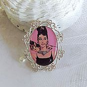 Украшения handmade. Livemaster - original item Vintage Brooch Audrey Hepburn (Audrey Hepburn) Breakfast at Tiffany`s Retro. Handmade.