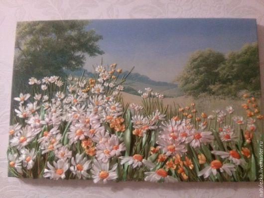 Картины цветов ручной работы. Ярмарка Мастеров - ручная работа. Купить Пейзаж. Handmade. Пейзаж, вышивка, картина, принт, мулине