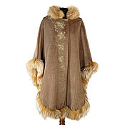 Одежда handmade. Livemaster - original item Poncho made of cashmere with fur WO / finish 205. Handmade.