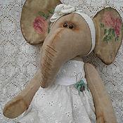 Куклы и игрушки ручной работы. Ярмарка Мастеров - ручная работа Интерьерная игрушка Слоничка  в розах. Handmade.