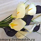 Цветы и флористика ручной работы. Ярмарка Мастеров - ручная работа Каллы 2. Handmade.