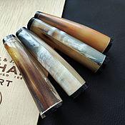 Материалы для творчества handmade. Livemaster - original item Bead Pendant Buffalo Horn Zebu Tube 85h13-19mm. Handmade.