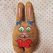 Мягкие игрушки ручной работы. Ярмарка Мастеров - ручная работа Кофейный зайка. Handmade.