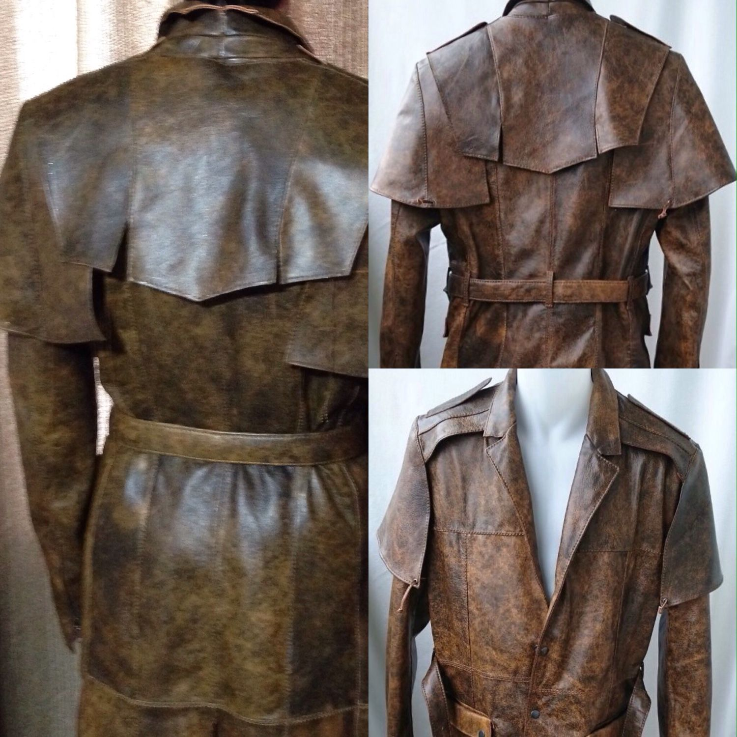 Leather coat of the postal 3 shop online on livemaster for Outer cloth