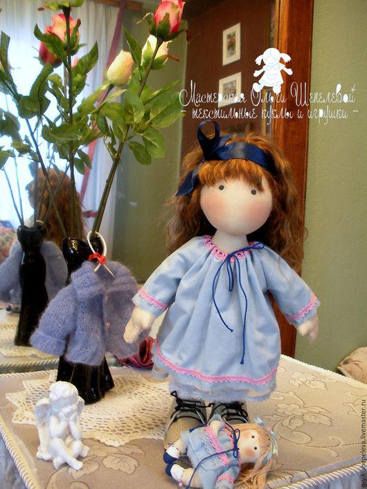 Коллекционные куклы ручной работы. Ярмарка Мастеров - ручная работа. Купить Игровая текстильная кукла Маруся. Handmade. Голубой