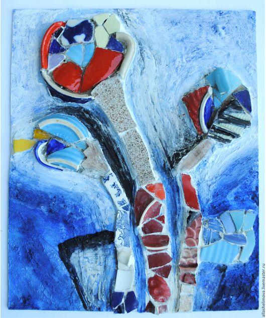 Картины цветов ручной работы. Ярмарка Мастеров - ручная работа. Купить Панно Цветы. Handmade. Панно на стену, панно в подарок