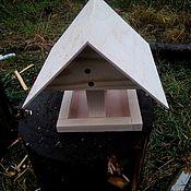 Для дома и интерьера ручной работы. Ярмарка Мастеров - ручная работа Кормушка для птиц уличная деревянная. Handmade.