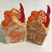Мыло ручной работы. Ярмарка Мастеров - ручная работа Мыло: Апельсин и Чили. Handmade.