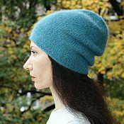 Аксессуары ручной работы. Ярмарка Мастеров - ручная работа Шапка вязаная женская, вязаная шапка-бини. Handmade.