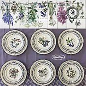 Посуда handmade. Livemaster - original item Porcelain painting Plates table Herbs. Handmade.