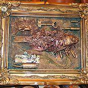 Картины и панно ручной работы. Ярмарка Мастеров - ручная работа steampunk рыбки. Handmade.