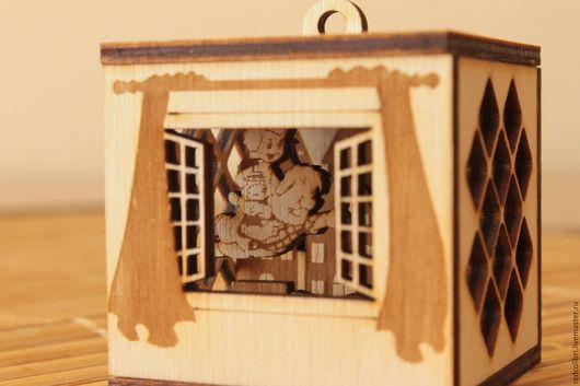 Детская ручной работы. Ярмарка Мастеров - ручная работа. Купить Волшебный кубик - Малыш и Карлсон. Handmade. Елочная игрушка