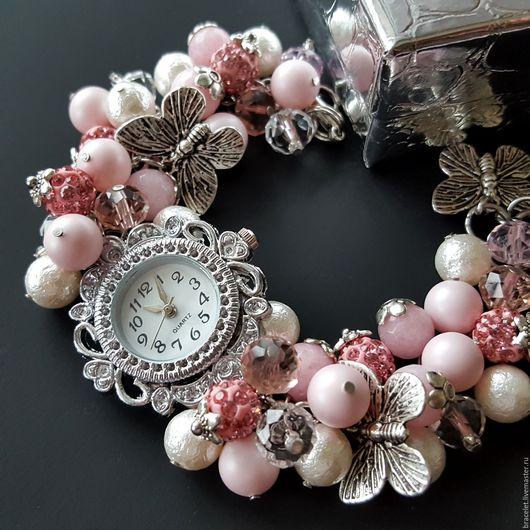 Часы ручной работы. Ярмарка Мастеров - ручная работа. Купить Часы наручные женские с браслетом.. Handmade. Часы, часы женские