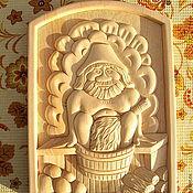 Для дома и интерьера ручной работы. Ярмарка Мастеров - ручная работа Резное панно из дерева. Handmade.
