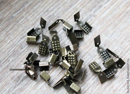 Для украшений ручной работы. Ярмарка Мастеров - ручная работа. Купить Концевик для ленты или шнура. Handmade. Разноцветный, концевики
