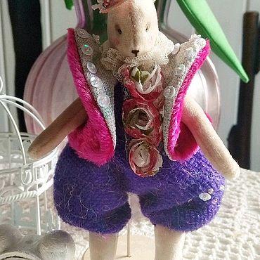 Куклы и игрушки ручной работы. Ярмарка Мастеров - ручная работа Зайка новогодняя.. Handmade.