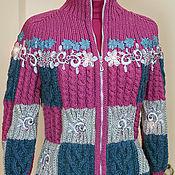 """Одежда ручной работы. Ярмарка Мастеров - ручная работа Вязаная куртка """"Герда"""". Handmade."""