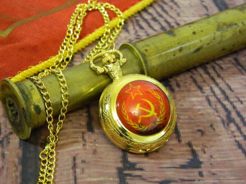 WATCH IN THE SOVIET STYLE 'USSR' QUARTZ, POCKET, Pocket watch, Saratov,  Фото №1