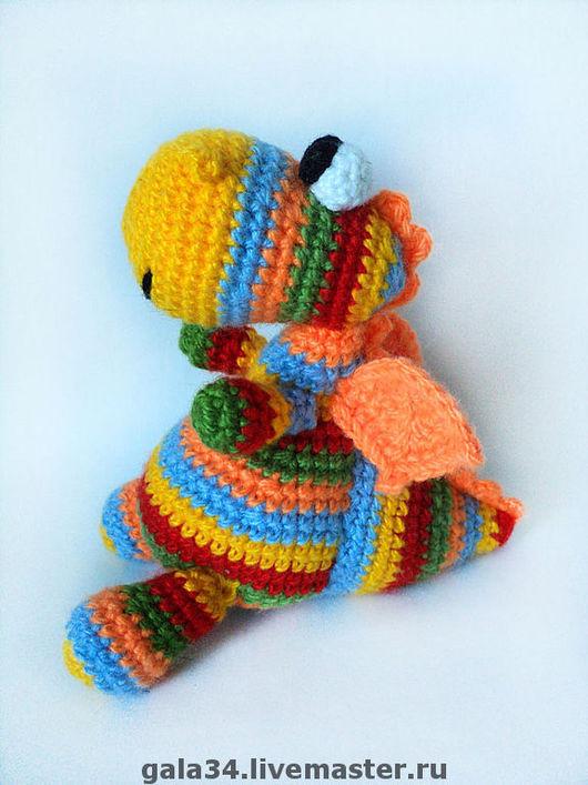 Fairy-Tale Dolls handmade. Livemaster - handmade. Buy Dragon Rainbow Baby.Dragon, knitted toy