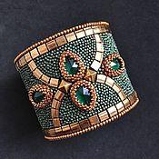Украшения handmade. Livemaster - original item Hard bracelet: green fairy beaded bracelet». Handmade.