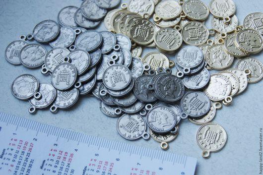 Для украшений ручной работы. Ярмарка Мастеров - ручная работа. Купить Монета декоративная ONE PENNY, 12мм, Южная Корея. Handmade.