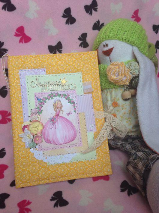 """Подарки для новорожденных, ручной работы. Ярмарка Мастеров - ручная работа. Купить Блокнот """"Маленькая принцесса"""". Handmade. Мамин блокнот, Скрапбумага"""