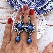 Украшения handmade. Livemaster - original item Serena Beaded Earrings with Swarovski Pearls. Handmade.