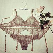 """Одежда ручной работы. Ярмарка Мастеров - ручная работа Комплект нижнего с поясом сексуального белья """"Ballerina"""". Handmade."""
