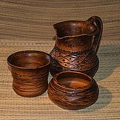 """Посуда ручной работы. Ярмарка Мастеров - ручная работа Набор для напитков """"Уют"""". Handmade."""