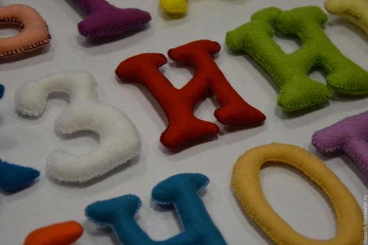 Аксессуары для колясок ручной работы. Ярмарка Мастеров - ручная работа. Купить Алфавит из фетра. Handmade. Алфавит из фетра, азбука, буквы