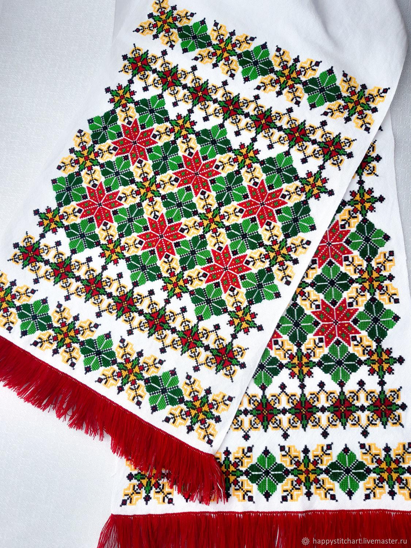 Рушник 7 с ручной вышивкой крестом, Рушники свадебные, Гайсин,  Фото №1