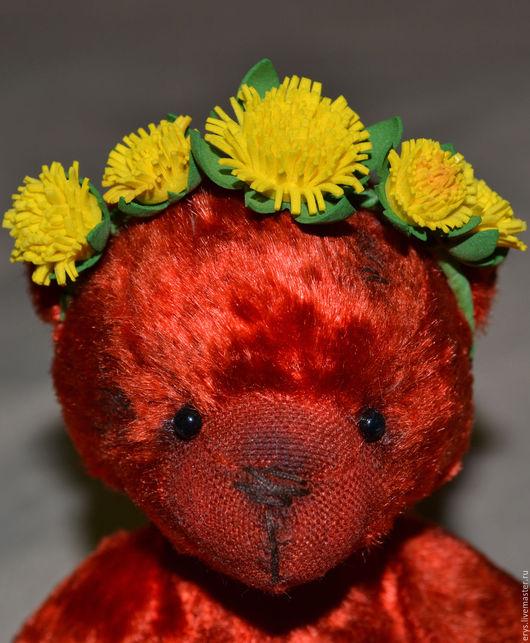 Мишки Тедди ручной работы. Ярмарка Мастеров - ручная работа. Купить Мишка Тедди Любочка. Handmade. Ярко-красный