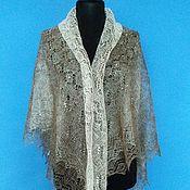 Аксессуары handmade. Livemaster - original item 300 gossamer down Orenburg openwork two-tone accessory shawls. Handmade.