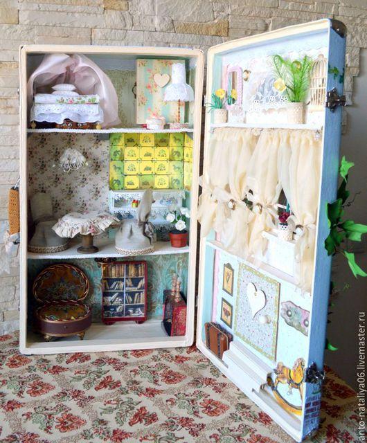 """Кукольный дом ручной работы. Ярмарка Мастеров - ручная работа. Купить Кукольный домик """"Пора ставить самовар"""". Работа в Резерве. Handmade."""