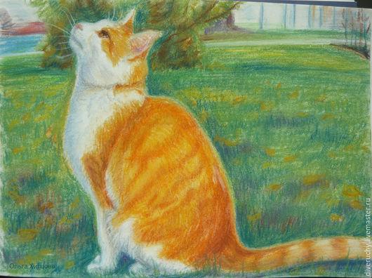 Животные ручной работы. Ярмарка Мастеров - ручная работа. Купить Мечтатель. Handmade. Разноцветный, кот, котик, мечтатель, рыжий