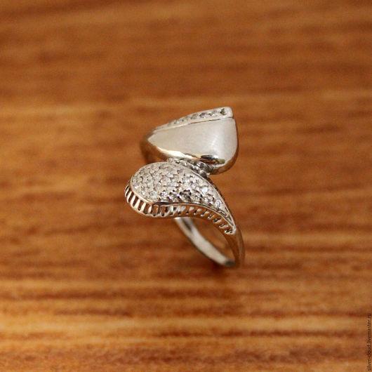 Кольца ручной работы. Ярмарка Мастеров - ручная работа. Купить Серебряное кольцо Шафран, серебро 925. Handmade. Серебряный, колечко