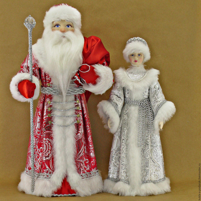 Дед мороз и снегурочка игрушки своими руками