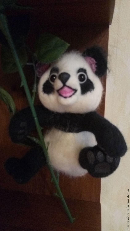 ручной работы. Ярмарка Мастеров - ручная работа. Купить забавная панда. Handmade. Панда, шерсть 100%