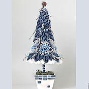 Подарки к праздникам ручной работы. Ярмарка Мастеров - ручная работа Ёлка джинсовая синяя елка. Handmade.