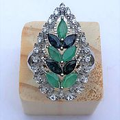 Украшения handmade. Livemaster - original item Silver ring with emeralds and sapphires