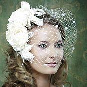 Свадебный салон ручной работы. Ярмарка Мастеров - ручная работа Вуалетка свадебная. Handmade.