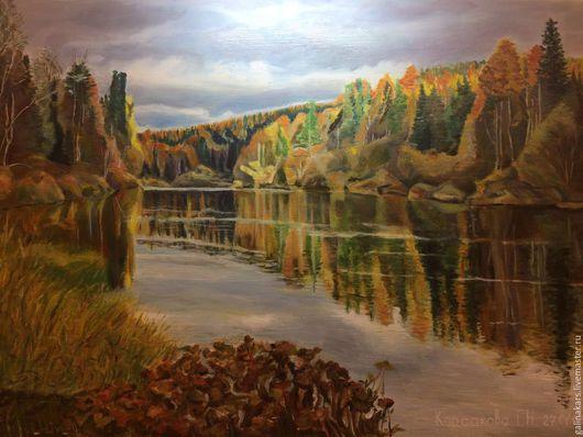 """Пейзаж ручной работы. Ярмарка Мастеров - ручная работа. Купить Картина маслом """"Осень"""". Handmade. Осень золотая, картины"""