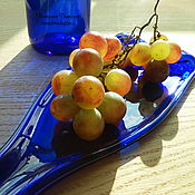Посуда ручной работы. Ярмарка Мастеров - ручная работа Бутылки декоративные, десертные тарелки, фьюзинг. Handmade.