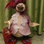 Куклы и игрушки ручной работы. Ярмарка Мастеров - ручная работа Утка  с зонтиком. Handmade.