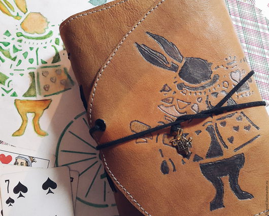 Блокноты ручной работы. Ярмарка Мастеров - ручная работа. Купить Червоный кролик и софтбук. Handmade. Солнечный, блокнот для записей, бежевый